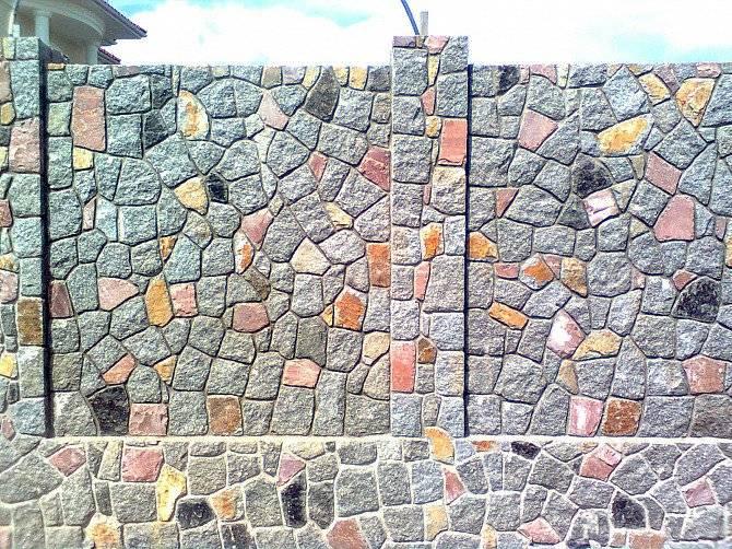 Кладка забора из бутового камня