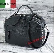 Женская черная кожаная сумка Италия . Изготовлена из натуральной кожи. Закрывается на молнию. Киев