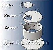 Железобетонные и бетонные кольца. Колодцы и сливные ямы - Новомосковск (Днепропетровская область) Новомосковск