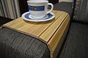 Деревянная накладка, столик, коврик на подлокотник дивана. Деревянный коврик на столик. Коврик Кировоград
