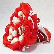 Букет из игрушек Мишки 11 красный 5281IT Киев