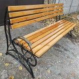 Кованая разборная садовая скамейка Дніпро