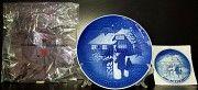 Продам Рождественскую, датскую, фарфоровую, кобальтовую тарелку. Одесса