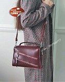 женский клатч кожаный кросс боди черный , бордо натуральная кожа Киев