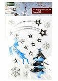M19-570008, Новогодний набор наклеек 3D , универсальное, серебристый-белый Полтава