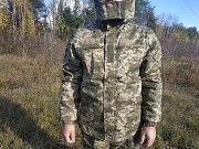 Зимовий бушлат камуфляжний з манжетами на овчині зносостійкий купити недорого одяг для військових Ковель