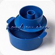 Синяя форма с поршнем Лазурь для твердых сыров 1 кг. Харьков