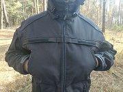 Якісна демісезонна волого-вітрозахисна куртка купити чорна із мембранного матеріала дешево Ковель