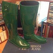 Зеленые резиновые сапоги от оригинального бренда Славянск