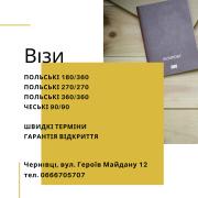 Допомога у підготовці пакету документів на візи Черновцы