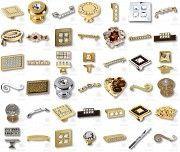 Мебельные ручки с кристаллами Сваровски; эксклюзивные ручки для мебели; мебельные ручки Дніпро