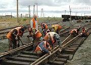Демонтаж железнодорожных путей Р-50 и Р-65 Київ