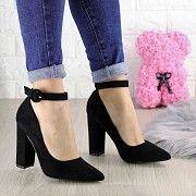 Туфли женские на каблуке черные Barney 1443 Мелитополь