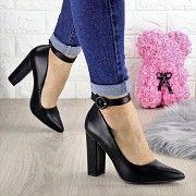 Туфли женские на каблуке черные Barney 1455 (40 размер) Мелитополь