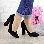 Туфли женские на каблуке черные Hussy 1446 (36 размер) Мелитополь