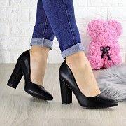 Туфли женские на каблуке черные Hussy 1458 (38 размер) Мелитополь