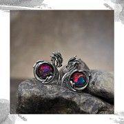 Срібні жіночі сережки «Дракони» Киев