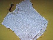 Белая нарядная футболка оверсайз,отличное состояние Пирятин
