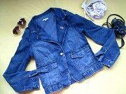 Стильный джинсовый пиджак куртка ветровка E-Steem,р.L,идеальное состояние Пирятин