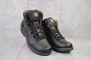 Мужские ботинки кожаные зимние черные Shark B150 Мелитополь