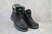 Мужские ботинки кожаные зимние черные Zangak 137 чор-кр Мелитополь