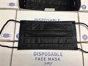 Заводская маска защитная чёрная 10шт. Житомир