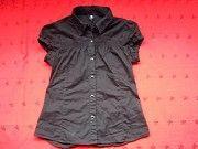Фирменная чёрная рубашка блузка Пирятин