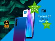 """Смартфон Xiaomi Redmi note 8T 6.3""""IPS RAM 4 MEM 64 Blue бу купить Одесса"""