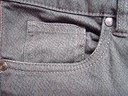 Фирменные штаны джинсы в узорах, серый цвет Пирятин