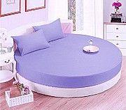 Круглая кровать. Простынь модель 2 Сиреневая Киев