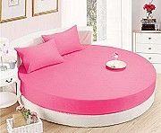 Круглая кровать. Простынь малиновая Киев