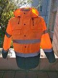 Качественная ветровка оранжевого цвета на кнопках Луганск