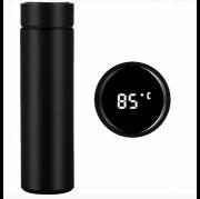 Бутылка термос с индикацией температуры для воды напитков стальной 500 мл Smart CUP Чёрный Киев