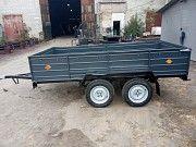Двухосный усиленный прицеп Днепр-300х150 в сборе с колёсами! Марганец