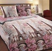Постельное белье Весенний Париж Размер кроватка Размер семейный Дніпро