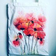 Летние сумки х/б, с авторской росписью Токмак