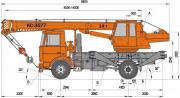 Оренда Автокрана МАЗ КС-3577 коротка база Львов