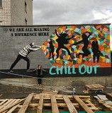 мурал , графіті , художній розпис і просто малюнок на стіні Львов