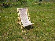 Пляжный шезлонг лежак деревянный раскладной Ровно