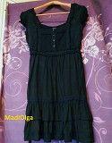 Летнее платье bay размер 40/l/48 / платье с кружевом и вышивкой / лёгкий сарафан Свалява