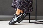 Женские кроссовки кожаные весна/осень черные Road-style С-035/1-01 Мелитополь