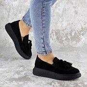 Туфли женские черные Pansy 2142 (40 размер) Мелитополь