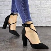 Туфли женские на каблуке черные Noisette 1481 (36 размер) 40 Житомир