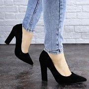 Женские туфли на каблуке черные Howie 1944 (37 размер) Житомир