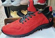 Спортивные кроссовки кроссовки Reebok Реплика кожаные черные красные Мелитополь Украина Мелитополь