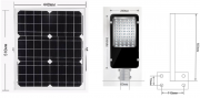 Автономный уличный LED-фонарь 60 Вт с креплением (опора не включена) Одесса