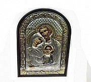 Греческая икона Святое семейство с серебром и позолотой Киев