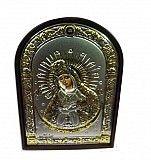 Греческая икона Богородицы Остробрамская с серебром Киев