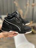 Мужские кроссовки кожаные зимние черные Splinter Б 2720 Мелитополь