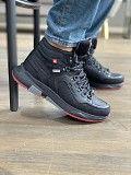 Мужские кроссовки кожаные зимние черные Splinter Б 0620 Мелитополь